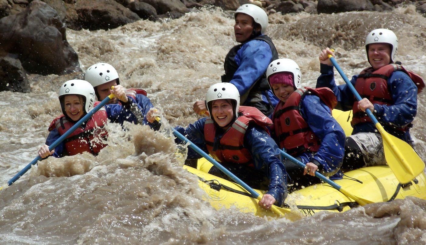 Fisrt day - Water rafting in the Inka Jungle trek