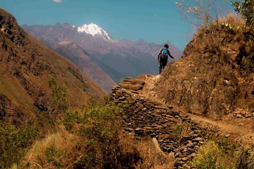 Inka trail in the Inka Jungle Trek to Machu Picchu