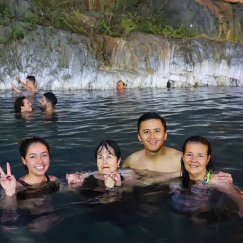 Cocalmayo Hot springs - The end of the 3rd day of the Salkantay trek