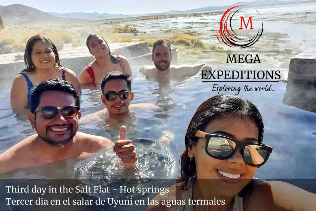 Third day in the Salt Flat - Hot springs in the salt flat of bolivia