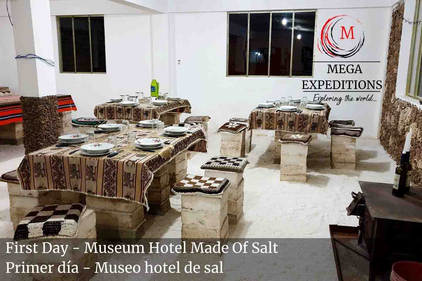 First Day - Museum Hotel Made Of Salt in the salt flat of bolivia