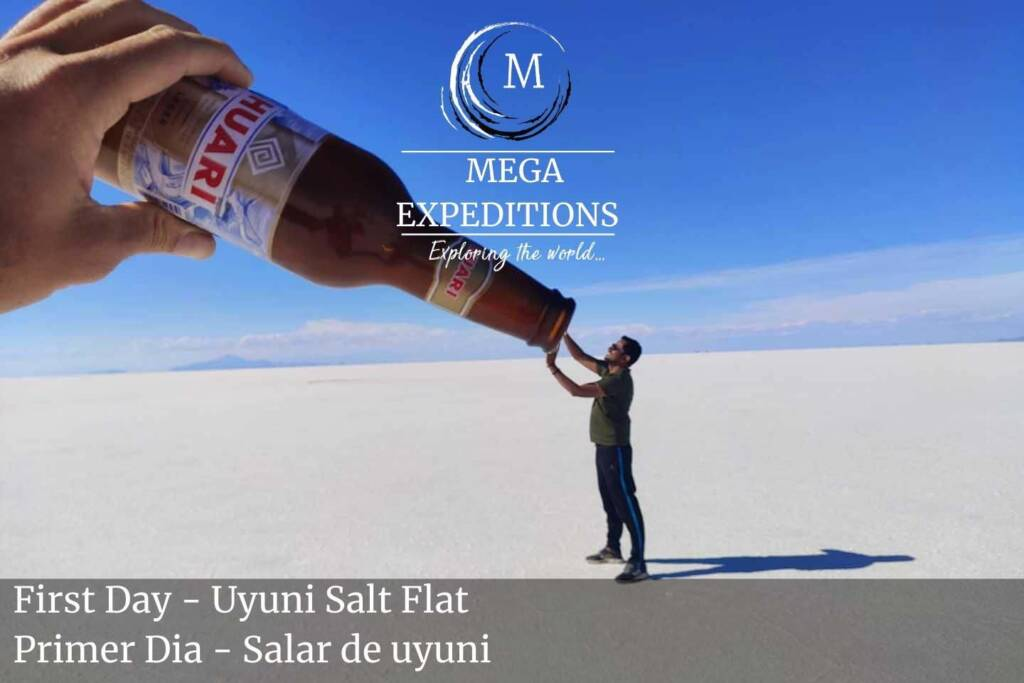 First Day - Uyuni Salt Flat pictures with distorted perspectives
