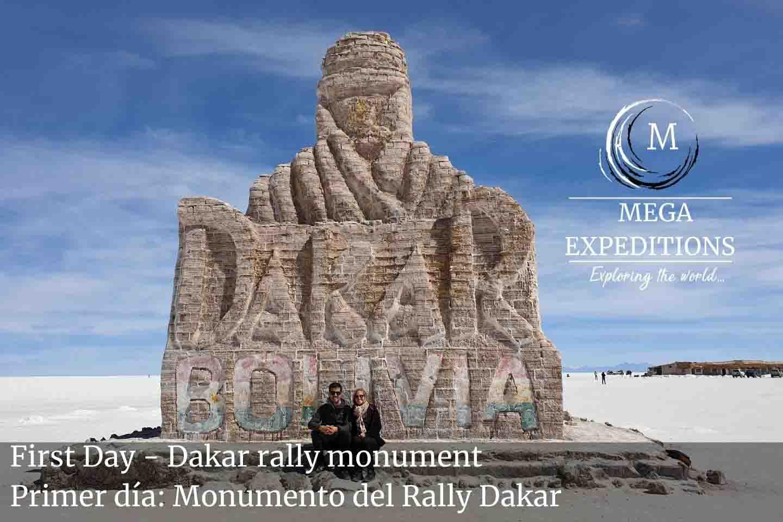 First Day - Dakar rally monument in uyuni salt flat