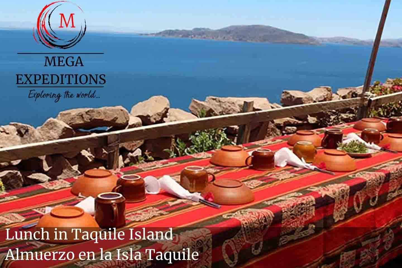 Lunch in Taquile Island Almuerzo en la Isla Taquile