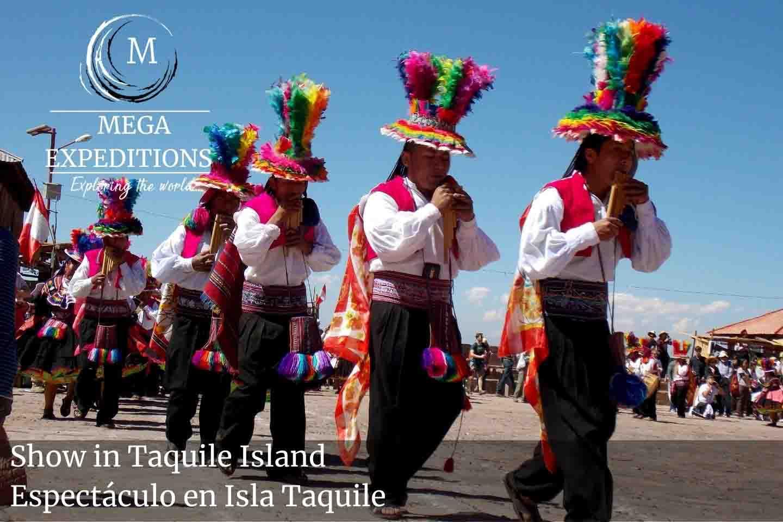 Show in Taquile Island Espectáculo en Isla Taquile