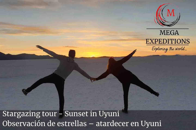 Stargazing tour - Sunset in Uyuni